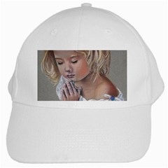 Prayinggirl White Baseball Cap