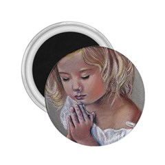 Prayinggirl 2.25  Button Magnet