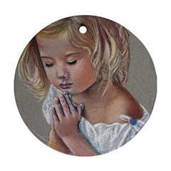 Prayinggirl Round Ornament
