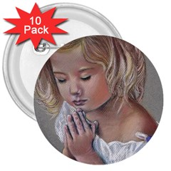 Prayinggirl 3  Button (10 pack)