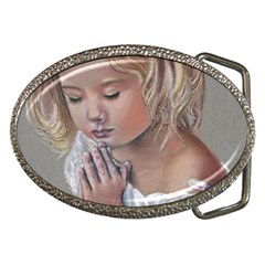 Prayinggirl Belt Buckle (Oval)