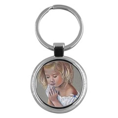 Prayinggirl Key Chain (Round)