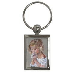 Prayinggirl Key Chain (Rectangle)