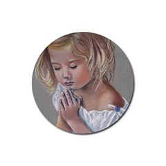Prayinggirl Drink Coaster (Round)