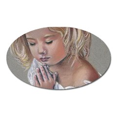 Prayinggirl Magnet (Oval)