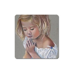 Prayinggirl Magnet (Square)