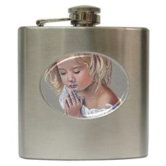Prayinggirl Hip Flask