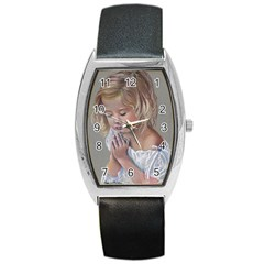 Prayinggirl Tonneau Leather Watch