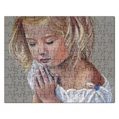 Prayinggirl Jigsaw Puzzle (Rectangle)