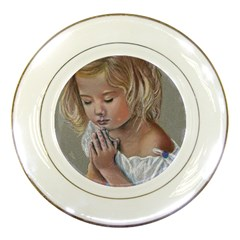 Prayinggirl Porcelain Display Plate