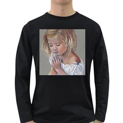 Prayinggirl Men s Long Sleeve T-shirt (Dark Colored)