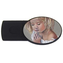 Prayinggirl 4GB USB Flash Drive (Oval)