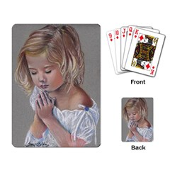 Prayinggirl Playing Cards Single Design