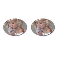 Prayinggirl Cufflinks (Oval)
