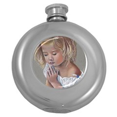 Prayinggirl Hip Flask (Round)