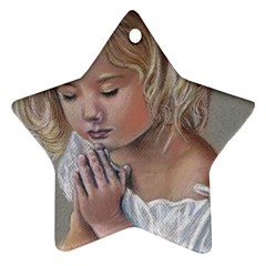 Prayinggirl Star Ornament (Two Sides)
