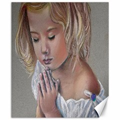 Prayinggirl Canvas 8  x 10  (Unframed)