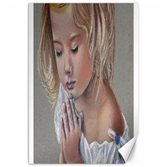 Prayinggirl Canvas 12  x 18  (Unframed)