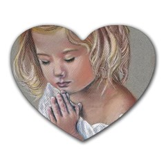 Prayinggirl Mouse Pad (Heart)