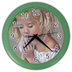Prayinggirl Wall Clock (Color)
