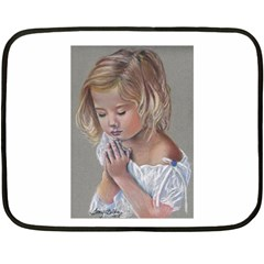 Prayinggirl Mini Fleece Blanket (Two Sided)