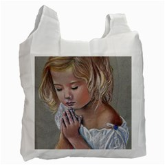 Prayinggirl White Reusable Bag (One Side)