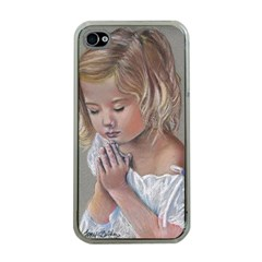 Prayinggirl Apple iPhone 4 Case (Clear)