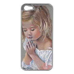 Prayinggirl Apple iPhone 5 Case (Silver)
