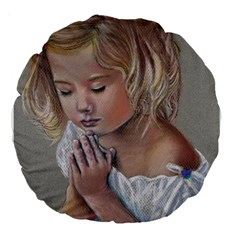 Prayinggirl 18  Premium Round Cushion