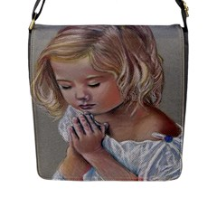Prayinggirl Flap Closure Messenger Bag (Large)