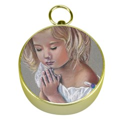 Prayinggirl Gold Compass