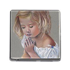 Prayinggirl Memory Card Reader With Storage (square) by TonyaButcher