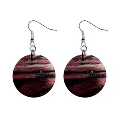 Pier At Midnight Mini Button Earrings