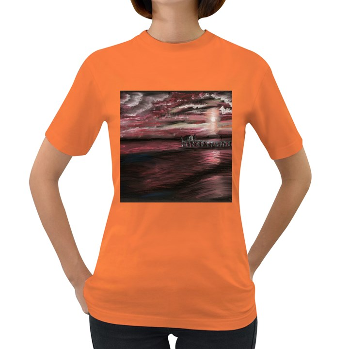 Pier At Midnight Women s T-shirt (Colored)