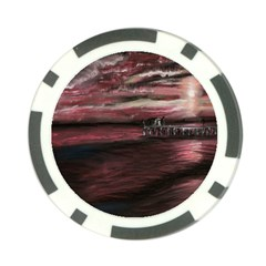 Pier At Midnight Poker Chip (10 Pack) by TonyaButcher