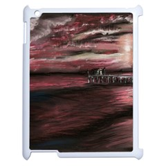 Pier At Midnight Apple Ipad 2 Case (white) by TonyaButcher