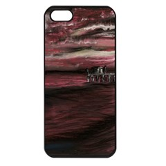 Pier At Midnight Apple Iphone 5 Seamless Case (black) by TonyaButcher