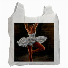Ballet Ballet White Reusable Bag (one Side)