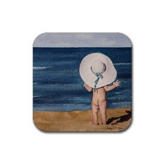 Mom s White Hat Drink Coasters 4 Pack (square)