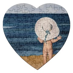 Mom s White Hat Jigsaw Puzzle (heart) by TonyaButcher