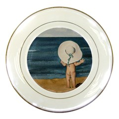 Mom s White Hat Porcelain Display Plate by TonyaButcher