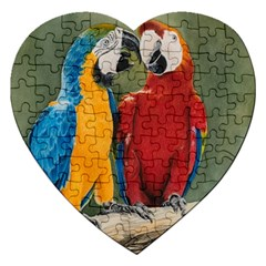 Feathered Friends Jigsaw Puzzle (heart) by TonyaButcher
