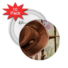 Hat On The Fence 2 25  Button (10 Pack)