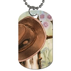Hat On The Fence Dog Tag (one Sided) by TonyaButcher