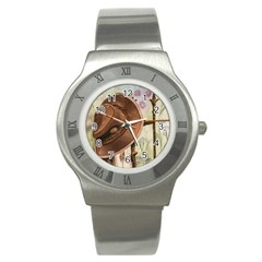 Hat On The Fence Stainless Steel Watch (slim) by TonyaButcher