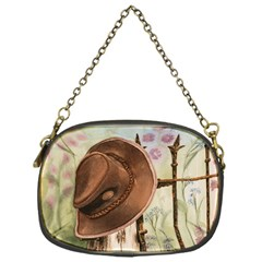 Hat On The Fence Chain Purse (one Side)