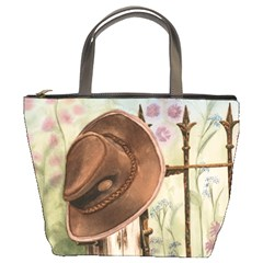 Hat On The Fence Bucket Handbag