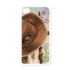 Hat On The Fence Apple Iphone 4 Case (white)