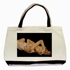 Gentle Embrace Twin Sided Black Tote Bag