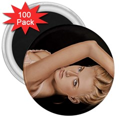 Alluring 3  Button Magnet (100 pack)